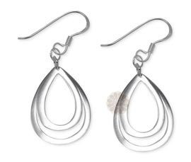 Vogue Crafts and Designs Pvt. Ltd. manufactures Double Teardrop Silver Earrings at wholesale price.