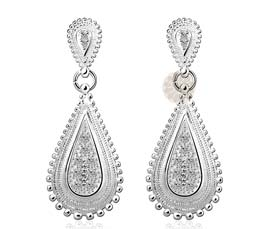 Vogue Crafts and Designs Pvt. Ltd. manufactures Traditional Teardrop Silver Earrings at wholesale price.
