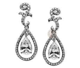 Vogue Crafts and Designs Pvt. Ltd. manufactures Teardrop Stone Silver Earrings at wholesale price.