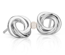 Vogue Crafts and Designs Pvt. Ltd. manufactures Sterling Silver Knot Earrings at wholesale price.