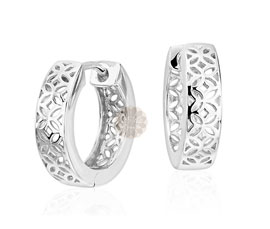Vogue Crafts and Designs Pvt. Ltd. manufactures Filigree Silver Huggies Earrings at wholesale price.