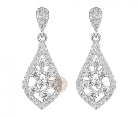 Vogue Crafts and Designs Pvt. Ltd. manufactures Designer Silver Drop Earrings at wholesale price.