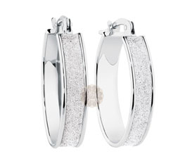 Vogue Crafts and Designs Pvt. Ltd. manufactures Sterling Silver Hoop Earrings at wholesale price.