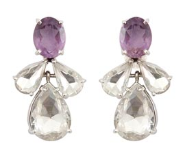 Vogue Crafts and Designs Pvt. Ltd. manufactures Silver Drop Earrings at wholesale price.