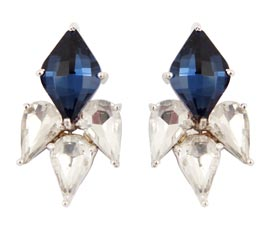 Vogue Crafts and Designs Pvt. Ltd. manufactures Blue Stone Silver Earrings at wholesale price.
