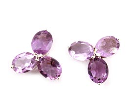 Vogue Crafts and Designs Pvt. Ltd. manufactures Flower Silver Stud Earrings at wholesale price.
