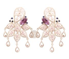 Vogue Crafts and Designs Pvt. Ltd. manufactures Multicolor Floral Earrings at wholesale price.