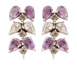 Vogue Crafts and Designs Pvt. Ltd. manufactures Designer Silver Leaf Earrings at wholesale price.