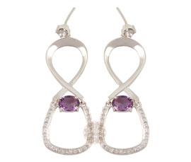 Vogue Crafts and Designs Pvt. Ltd. manufactures Silver Infinity Earrings at wholesale price.