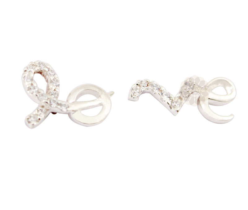 Vogue Crafts & Designs Pvt. Ltd. manufactures Love Silver Earrings at wholesale price.