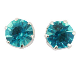 Vogue Crafts and Designs Pvt. Ltd. manufactures Blue Stone Silver Stud Earrings at wholesale price.