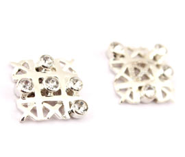 Vogue Crafts and Designs Pvt. Ltd. manufactures Cross Zero Game Silver Earrings at wholesale price.