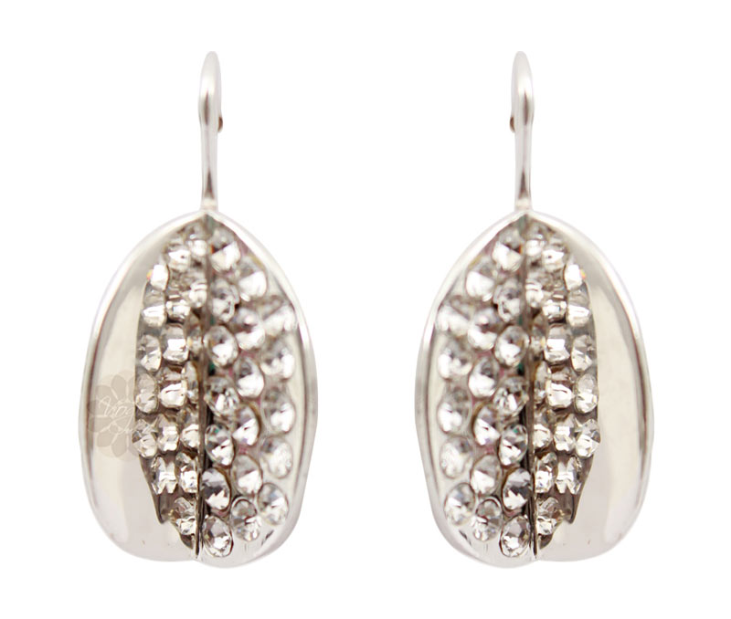 Vogue Crafts & Designs Pvt. Ltd. manufactures Stone Packed Round Silver Earrings at wholesale price.