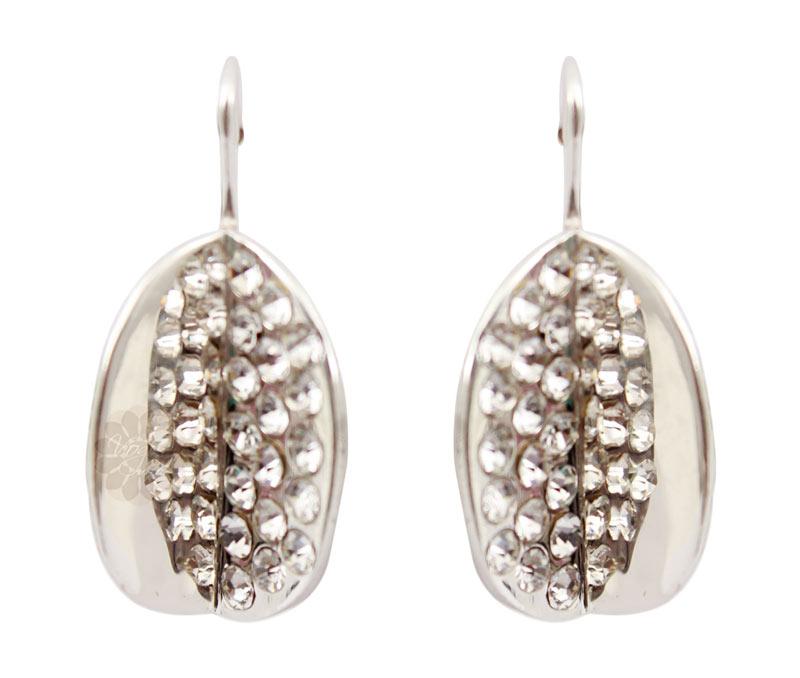 Latest Design Jewelry - Silver Leaf Earrings .