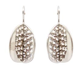 Vogue Crafts and Designs Pvt. Ltd. manufactures Silver Leaf Earrings at wholesale price.