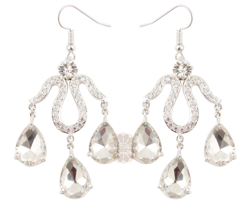 Vogue Crafts & Designs Pvt. Ltd. manufactures Silver Chandelier Earrings at wholesale price.