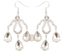 Vogue Crafts and Designs Pvt. Ltd. manufactures Silver Chandelier Earrings at wholesale price.