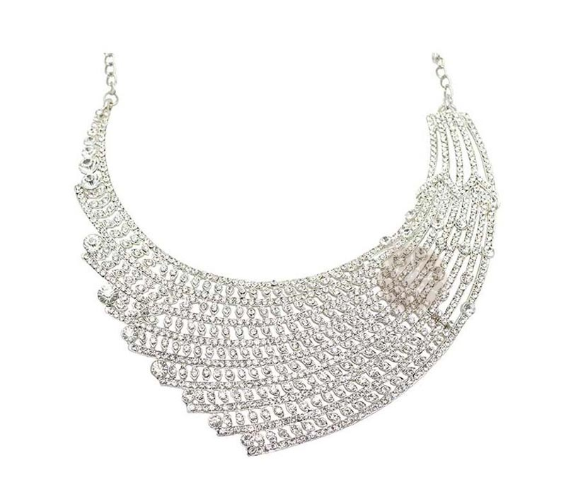 Vogue Crafts & Designs Pvt. Ltd. manufactures Fancy Silver Necklace at wholesale price.