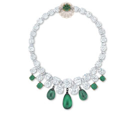 Green Stone Choker Silver Necklace