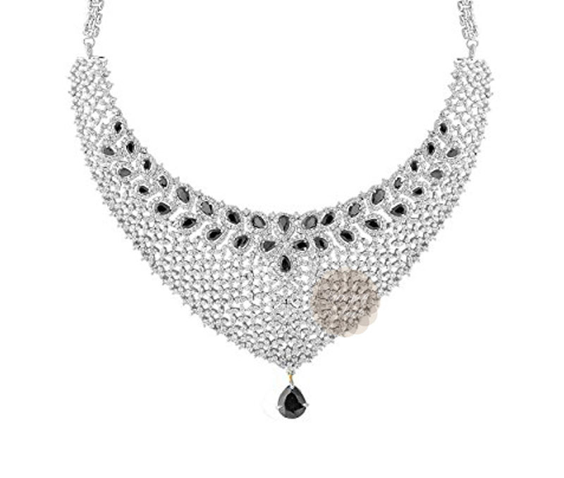 Vogue Crafts & Designs Pvt. Ltd. manufactures Black Stone Silver Necklace at wholesale price.