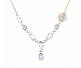 Vogue Crafts and Designs Pvt. Ltd. manufactures Designer Sterling Silver Necklace at wholesale price.