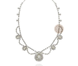 Vogue Crafts and Designs Pvt. Ltd. manufactures Stone Studded Silver Necklace at wholesale price.