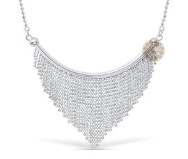 Vogue Crafts and Designs Pvt. Ltd. manufactures Party-wear Silver Necklace at wholesale price.