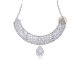 Vogue Crafts and Designs Pvt. Ltd. manufactures Thick Silver Necklace at wholesale price.