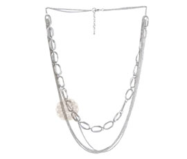 Vogue Crafts and Designs Pvt. Ltd. manufactures Multi-strand Silver Necklace at wholesale price.