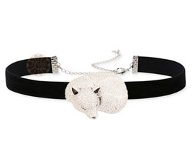 Vogue Crafts and Designs Pvt. Ltd. manufactures Silver Sleeping Fox Choker Necklace at wholesale price.