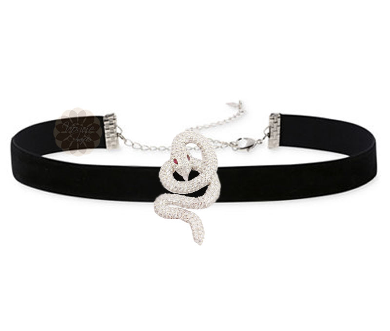Vogue Crafts & Designs Pvt. Ltd. manufactures Silver Snake Choker Necklace at wholesale price.