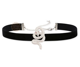 Vogue Crafts and Designs Pvt. Ltd. manufactures Silver Snake Choker Necklace at wholesale price.