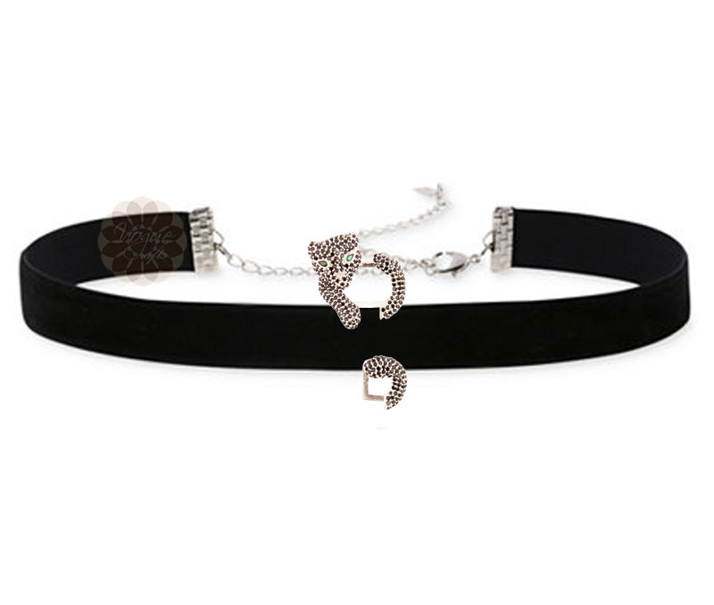 Vogue Crafts & Designs Pvt. Ltd. manufactures Black Panther Silver Choker Necklace at wholesale price.