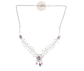 Vogue Crafts and Designs Pvt. Ltd. manufactures Designer Silver Necklace at wholesale price.