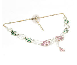 Vogue Crafts and Designs Pvt. Ltd. manufactures Silver Leaf Necklace at wholesale price.
