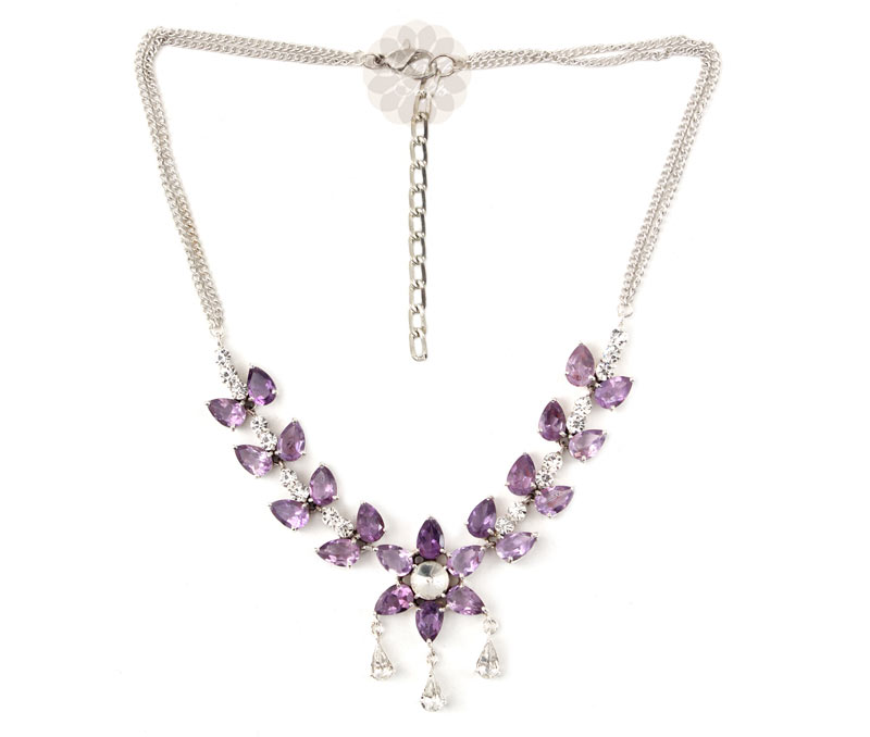 Vogue Crafts & Designs Pvt. Ltd. manufactures Amethyst Stone Silver Necklace at wholesale price.