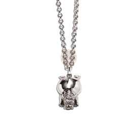 Vogue Crafts and Designs Pvt. Ltd. manufactures Silver Dog Pendant at wholesale price.