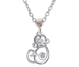 Vogue Crafts and Designs Pvt. Ltd. manufactures Silver Monkey Pendant at wholesale price.
