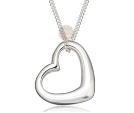 Vogue Crafts and Designs Pvt. Ltd. manufactures Sterling Silver Heart Pendant at wholesale price.