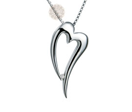 Vogue Crafts and Designs Pvt. Ltd. manufactures Silver Heart Pendant at wholesale price.