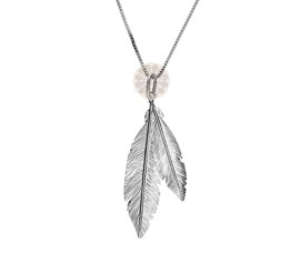 Vogue Crafts and Designs Pvt. Ltd. manufactures Twin Feather Silver Pendant at wholesale price.