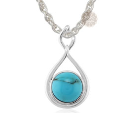 Vogue Crafts and Designs Pvt. Ltd. manufactures Turquoise Stone Silver Pendant at wholesale price.