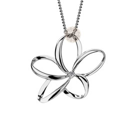 Vogue Crafts and Designs Pvt. Ltd. manufactures Silver Flower Pendant at wholesale price.