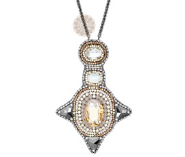 Vogue Crafts and Designs Pvt. Ltd. manufactures Geometric Silver Pendant at wholesale price.