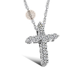 Vogue Crafts and Designs Pvt. Ltd. manufactures Silver Cross Pendant at wholesale price.