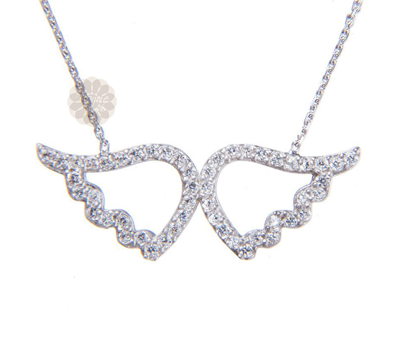 Vogue Crafts & Designs Pvt. Ltd. manufactures Angel Wings Silver Pendant at wholesale price.