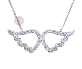 Vogue Crafts and Designs Pvt. Ltd. manufactures Angel Wings Silver Pendant at wholesale price.