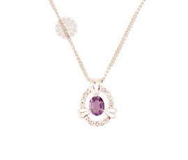 Vogue Crafts and Designs Pvt. Ltd. manufactures Oval Silver Pendant at wholesale price.