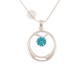 Vogue Crafts and Designs Pvt. Ltd. manufactures Blue Stone Silver Pendant at wholesale price.