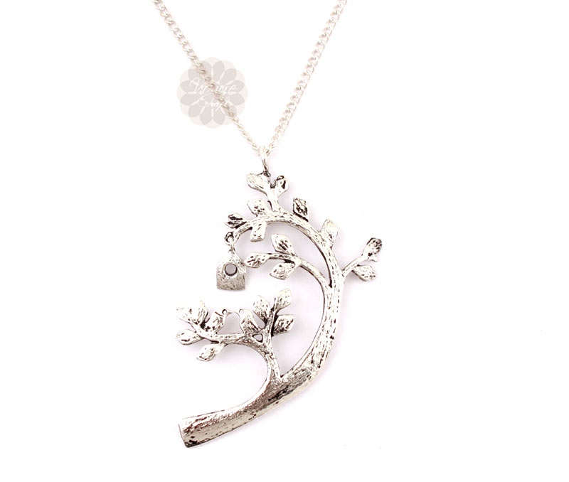 Vogue Crafts & Designs Pvt. Ltd. manufactures Tree Bird House Silver Pendant at wholesale price.
